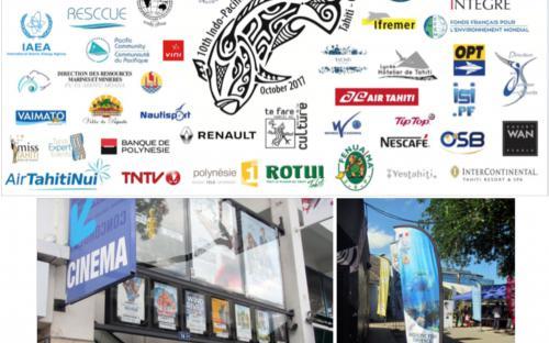 Exemples de supports de communication affichés à TFTN et dans Papeete